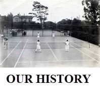 Picture of old tennis court